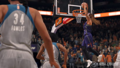 Phoenix Mercury center Brittney Griner in NBA Live 18. Image: Electronic Arts.