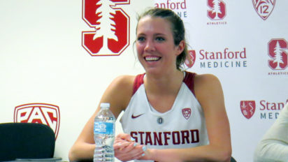 Nov. 7, 2018 (Stanford, CA) -- Stanford freshman forward Lexie Hull postgame.