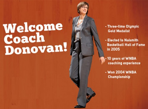 January 3, 2013 - Connecticut Sun website splash page announcing the hiring of Seton Hall coach Anne Donovan