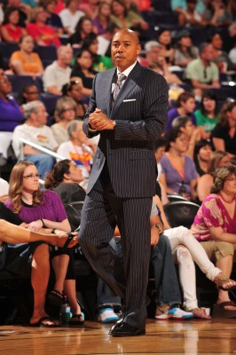 Mercury head coach Corey Gaines