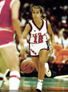 Baylor head coach Kim Mulkey at the 1984 Summer Olympics. Photo: Louisiana Tech Athletics.