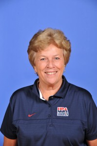 U.S. assistant coach Marynell Meadors